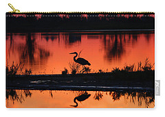 Great Blue Heron At Sunrise Carry-all Pouch