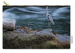 Carry-all Pouch featuring the photograph Great Blue Heron by Belinda Greb