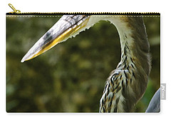 Carry-all Pouch featuring the photograph Great Blue Heron by Dee Dee  Whittle