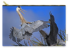 Great Blue Heron Fight  Carry-all Pouch