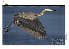 Carry-all Pouch featuring the photograph Great Blue Heron by J L Woody Wooden