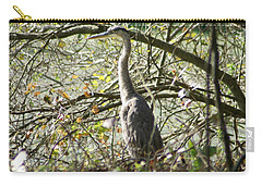 Carry-all Pouch featuring the photograph Great Blue Heron by Karen Silvestri