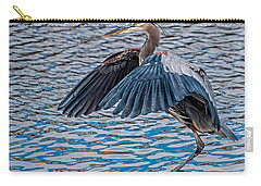 Great Blue Heron Pose Carry-all Pouch