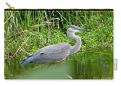 Carry-all Pouch featuring the photograph Great Blue Heron  by Susan Garren