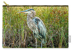 Great Blue Heron Waiting For Supper Carry-all Pouch by Eti Reid