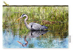 Great Blue Hunter Carry-all Pouch by Barbara Chichester