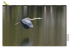 Carry-all Pouch featuring the photograph Great Blue Over Green by Paul Rebmann