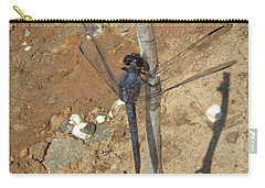 Slaty Skimmer Dragonfly Shadow Carry-all Pouch by Donna Brown