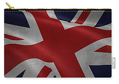 Great Britains Flag Waving On Canvas Carry-all Pouch