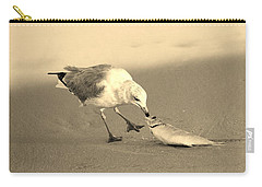 Carry-all Pouch featuring the photograph Great Catch With Fish by Cynthia Guinn