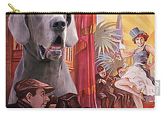 Great Dane Art Canvas Print - Der Blaue Engel Movie Poster Carry-all Pouch