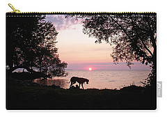 Carry-all Pouch featuring the photograph Great Dane Sunset by Aimee L Maher Photography and Art Visit ALMGallerydotcom