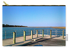 Carry-all Pouch featuring the photograph Great Day For Fishing In The Marsh by Amazing Photographs AKA Christian Wilson