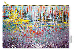 Great Day In Chicago - Sold Carry-all Pouch by George Riney