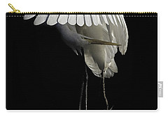Great Egret Bowing Carry-all Pouch