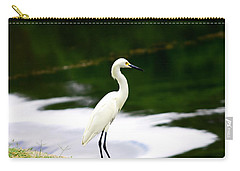 Great Egret Carry-all Pouch by Debra Forand