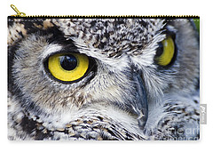 Great Horned Closeup Carry-all Pouch