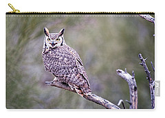 Carry-all Pouch featuring the photograph Great Horned Owl by Dan McManus