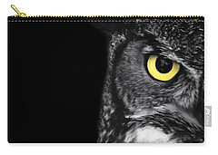Great Horned Owl Photo Carry-all Pouch by Stephanie McDowell