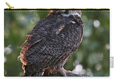 Great Horned Owl Profile Carry-all Pouch