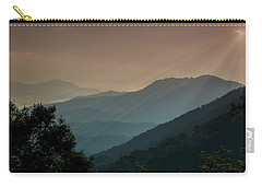 Carry-all Pouch featuring the photograph Great Smoky Mountains Blue Ridge Parkway by Patti Deters