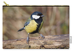 Great Tit On A Log Carry-all Pouch
