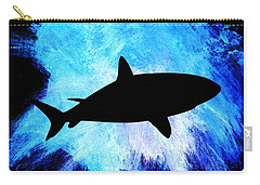 Carry-all Pouch featuring the painting Great White by Aaron Berg