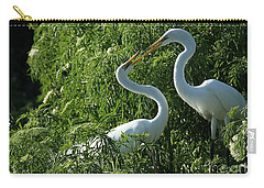 Great White Egret Lovers Carry-all Pouch by Sabrina L Ryan