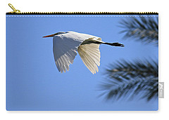 Carry-all Pouch featuring the photograph Great White In Flight by Penny Meyers