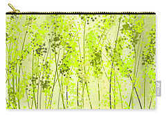 Green Abstract Art Carry-all Pouch by Lourry Legarde
