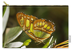 Green And Brown Tropical Butterfly Carry-all Pouch