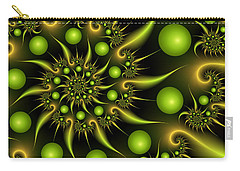 Carry-all Pouch featuring the digital art Green And Gold by Gabiw Art