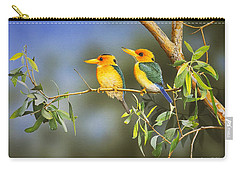 Green And Gold - Yellow-billed Kingfishers Carry-all Pouch