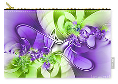 Green And Purple Carry-all Pouch by Lena Auxier