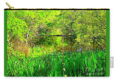 Carry-all Pouch featuring the photograph Green As Emerald's by Michael Hoard
