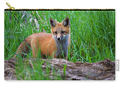 Green As Grass Carry-all Pouch by Jim Garrison