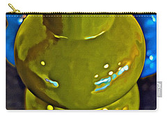 Carry-all Pouch featuring the painting Green  Blue Vases by Joan Reese