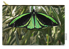 Carry-all Pouch featuring the photograph Green Butterfly by Brenda Brown