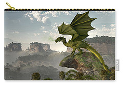 Green Dragon Carry-all Pouch by Daniel Eskridge