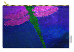 Green Dragonfly Carry-all Pouch by Anita Lewis