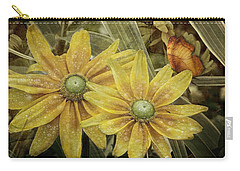 Carry-all Pouch featuring the photograph Green Eyed Susie by Barbara Orenya