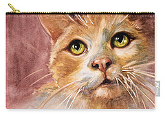 Green Eyes Carry-all Pouch by Judith Levins