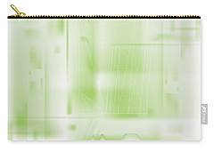 Carry-all Pouch featuring the digital art Green Ghost City by Kevin McLaughlin
