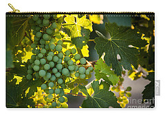 Green Grapes Carry-all Pouch by Ana V Ramirez