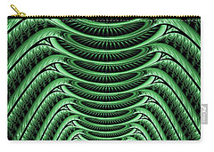 Carry-all Pouch featuring the digital art Green Hall by Anastasiya Malakhova