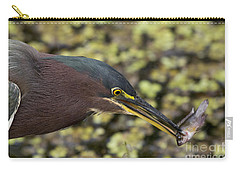Green Heron Fishing Carry-all Pouch