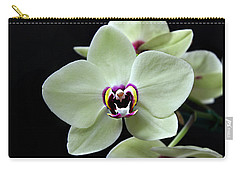 Green Hybrid Phalaenopsis Flower With A Red Wine Center Carry-all Pouch by William Tanneberger
