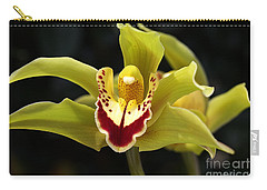Green Orchid Flower Carry-all Pouch