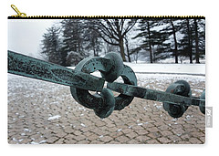 Carry-all Pouch featuring the photograph Green Patina by Michael Porchik