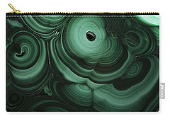 Green Patterns Of Malachite Carry-all Pouch